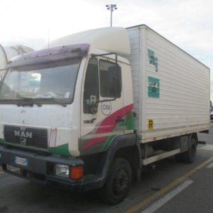 autocarro man b  lc euro  allestimento furgonatura in alluminio