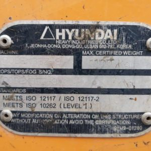 escavatore idraulico hyundai robex z  b