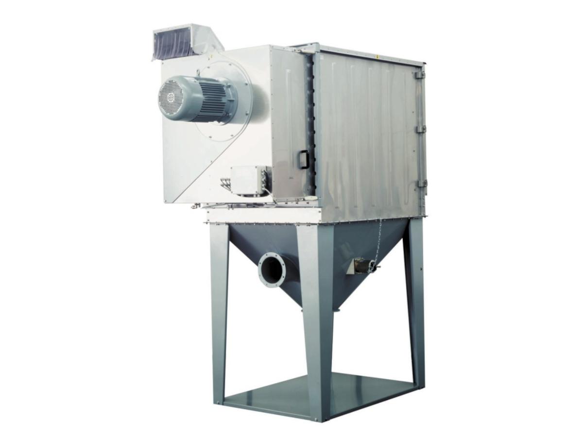 filtri depolveratori poligonali con aspirazione
